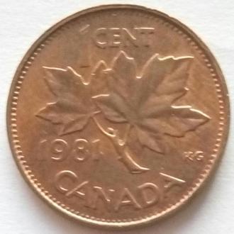 Канада 1 цент 1981