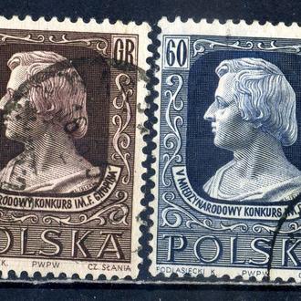 Польша. Конкурс Шопена. Музыка (серия) 1955 г.
