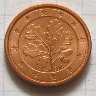 Германия_ 1 евро цент 2012 J оригинал