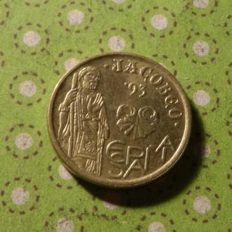 Испания 1993 год монета 5 песет !