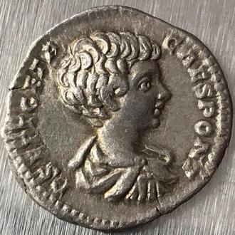 Рим Империя Публий Септимий Гета Publius Septimius Geta 211 г 3,31 грамма денарий