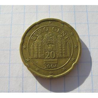 20 ЄВРОЦЕНТ 2004 АВСТРІЯ