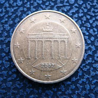 Германия 10 центов 2002 D
