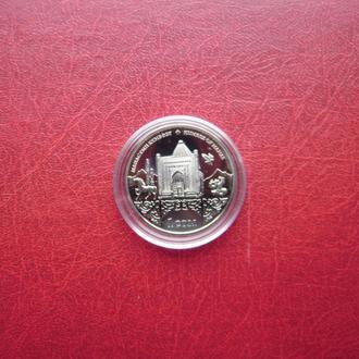 Кыргызстан (Киргизия) 1 сом 2014 UNC. Памятник архитектуры. Кумбез Манаса