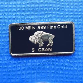 слиток 5 Gram – 100 mills. 999 Buffalo