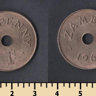 Замбия 1 пенни 1966