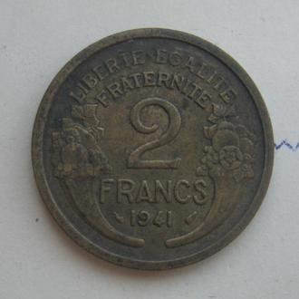 ФРАНЦИЯ, 2 франка 1941 г.