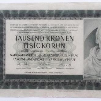 Богемия и Моравия 1000 крон 1942 г