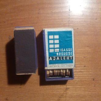 Спички в деревянном коробке 1956 г Эстония Вильянди igasse kodusse ajaleht (газета в каждом доме)