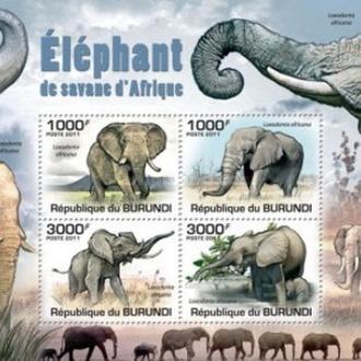 Бурунди 2011 БЛ Слоны