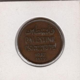 1927 год - 2 милс или 2 милса - Палестина - Британский мандат - в холдере 2