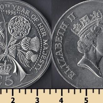 Олдерни остров 5 фунтов 1996