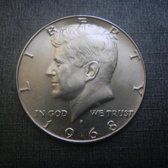 США 1/2 доллара 1968 D Серебро