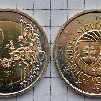 Словакия 2 евро, 2016 Председательство Словакии в ЕС