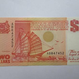 Сингапур. 2 доллара  1990 год. UNC.