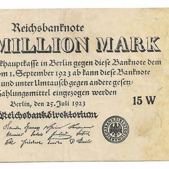 Германия 1000000 марок миллион 1923 Firmendruck Р94(2)