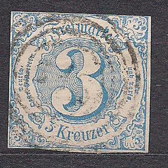 Немецкие земли, Thurn und Taxis, 1859-61 гг., первые марки, марка № 21