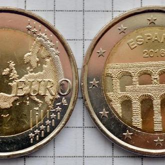 Испания 2 евро,  ЮНЕСКО - Акведук в Сеговии 2016