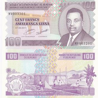 Burundi Бурунди - 100 Francs 2011 P. 44b UNC JavirNV