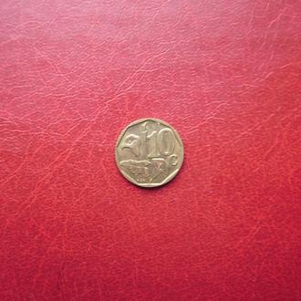 ЮАР 10 центов 1996