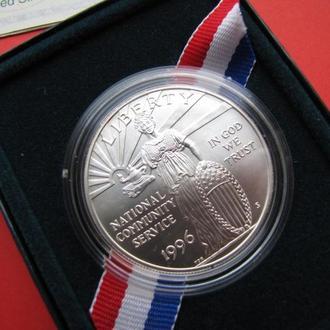1 Доллар 1996 Национальная Служба,(130) США UNC