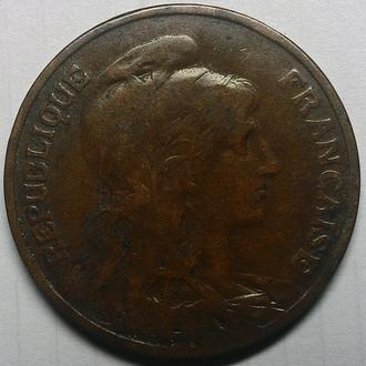 Франция 10 сантимов 1911 год