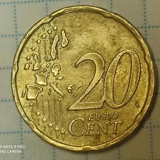 ГЕРМАНИЯ, 20 центов 2005 А