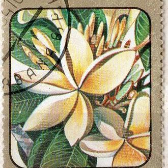 Куба 1984 Цветы Кариб Плюмерия альба