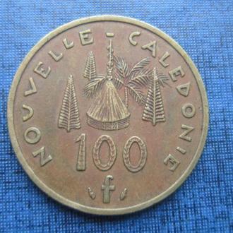 монета 100 франков Новая Каледония 1976