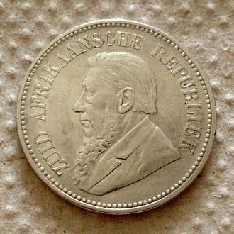 2 1/2 шиллинга, 1895 г, Южная Африка, серебро