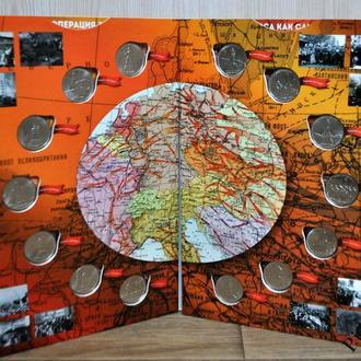 Набор 5 рублей 2016 Города-столицы государств в капсульном вальбоме