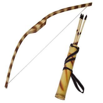 Стильный деревянный лук со стрелами игровой 721-611