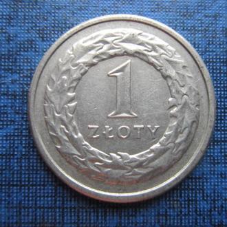 монета 1 злотый Польша 1992