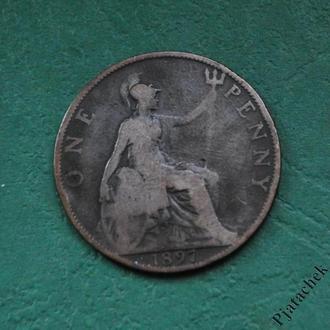 Великобритания 1 пенни  1897 г Виктория