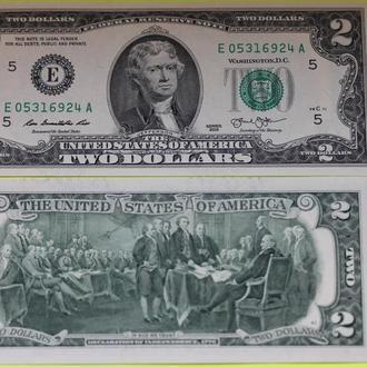 Америка, 2 доллара 2013 UNC