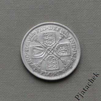 Великобритания 1 Флорин 1928 Георг V Состояние