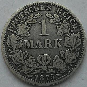 Германия 1 марка 1875 А СЕРЕБРО!!! СОХРАН!!