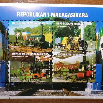 Мадагаскар паровоз транспорт КЦ-13м