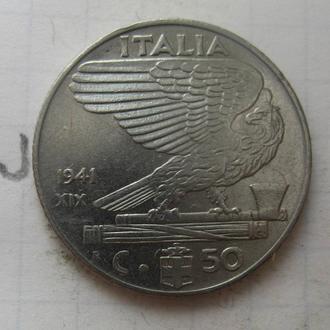 ИТАЛИЯ. 50 чентезимо 1941 г.