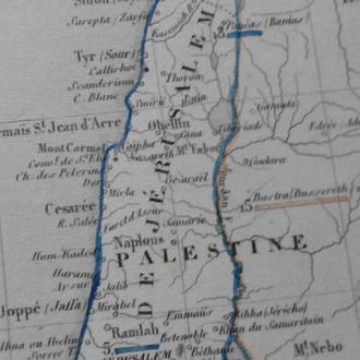 Карта начала ХХв. еврейского государства в старину, иудаика израиль палестина