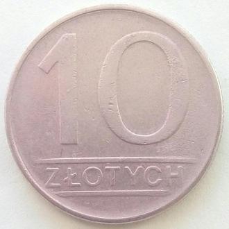 (К2) Польша 10 злотых, 1987
