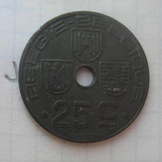 Бельгия, 25 сантимов 1946 года.