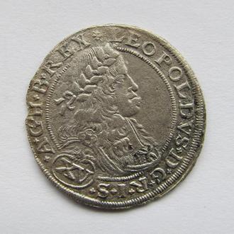 15 крейцеров 1664г. Леопольд I Габсбург,  Тироль