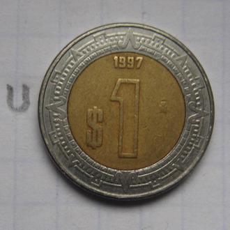 МЕКСИКА 1 песо 1997 года.