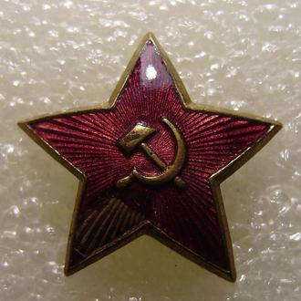 Звезда-кокарда на бескозырку, 30 мм (латунь)