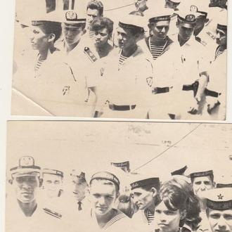 2 фотографии. Советские моряки на Кубе.