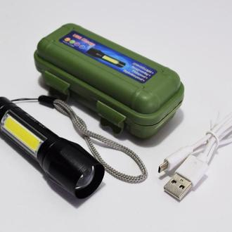 Тактический Аккумуляторный Мини- Фонарь USB BL