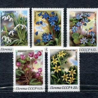 СССР. 1983 год. Весенние цветы. Серия. MNH