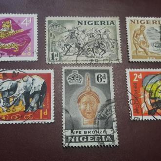 Марки Нигерия 1953 1965