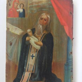 Подокладная икона. Святой Юстиниан